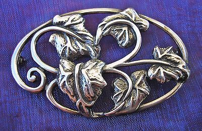 Beautiful vintage hallmarked Silver brooch with Ivy Leaves London 1991 LA