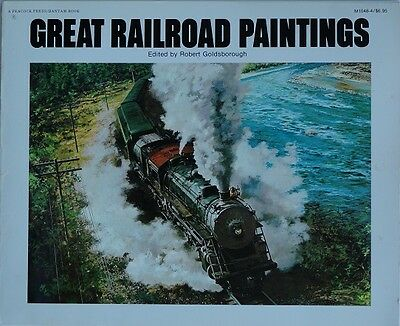 Great Railroad Painting by Robert Goldsborough 1976 Used