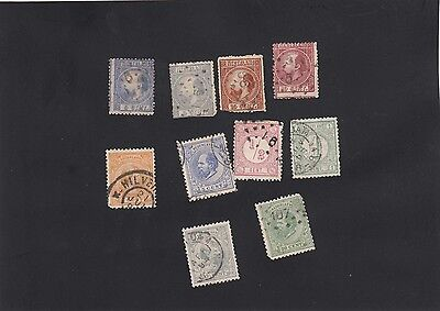 19th century, Dutch stamps - small lot