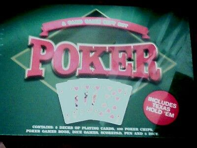 Poker Card Game Set Boxed Unopened,unwanted Gift.
