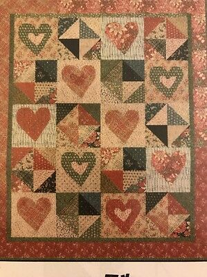 QUILTERS!! stunning Pattern: Lilly's Hearts And Stars From Jan Patek Quilts Inc