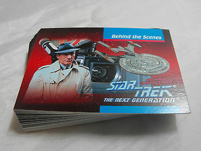 Star Trek The Next Generation Behind The Scenes Complete Basic Set Of 40 Cards