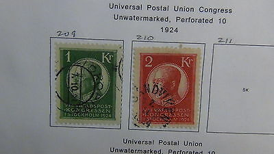 Sweden Stamp collection on computer pages w/ high value
