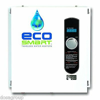 EcoSmart ECO36 36kW 240volt Self-Modulating 6 GPM Electric Tankless Water Heater