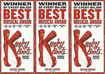 Kinky Boots - the musical - 2017 London Theatre FLYERS x 3