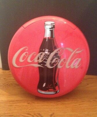 1995 Vintage Round Coca Cola Coke Phone Telephone Landline Stand Or Hang On Wall