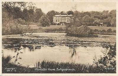 Vintage Tucks Postcard Montalto House Ballynahinch Co. Galway Ireland