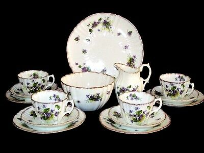 "Reid & Co.Park Place China 15piece "" Violet "" Tea Set"