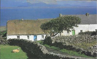 Postcard Thatched cottage Inishmore Aran Islands Co. Galway Ireland