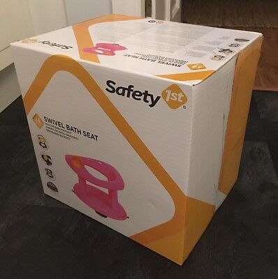 New Safety 1st Pink Swivel Baby Bath Seat