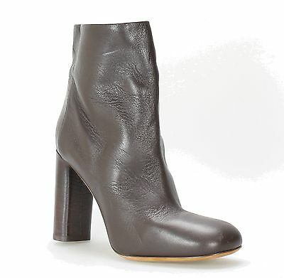 Vince NEW Brown Shoes 8M High Ankle Leather Square Toe Heel Boots $495- #583