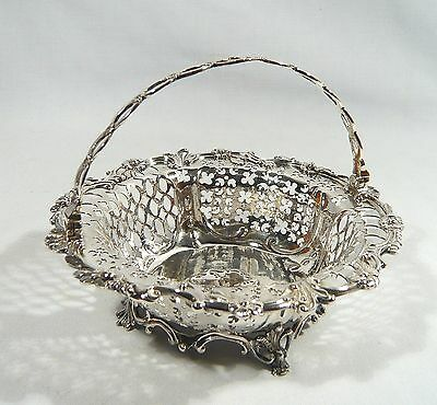 Extremely Rare Antique 1700's EXETER STERLING Silver Pieced Basket JOHN REED