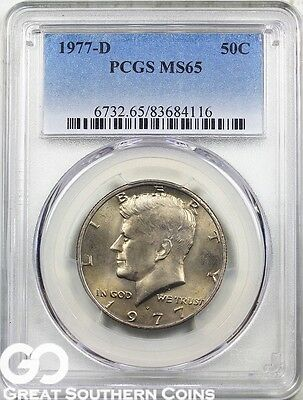 1977-D PCGS Kennedy Half Dollar PCGS MS 65 ** Frosty Luster