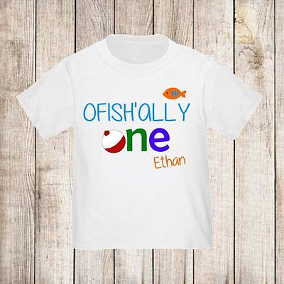 1st Birthday Fish Boys Personalized t-shirt ANY Age/Name Kids Shirt NEW!