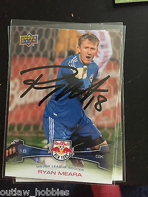 New York Red Bulls Ryan Meara 2012 Upper Deck MLS Autographed Signed Cards