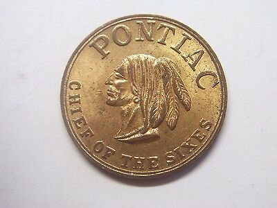 "AU/BU 1930s Pontiac ""Chief of the sixes"" Dealer Promo Token  GTM Estate"
