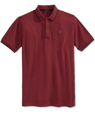 Sean John NEW True Red Mens Size 2XL Short Sleeve Polo Rugby Shirt $59 #081