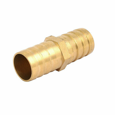 20mm Dia Air Straight Hose Pipe Barb Coupler Connector Brass Tone