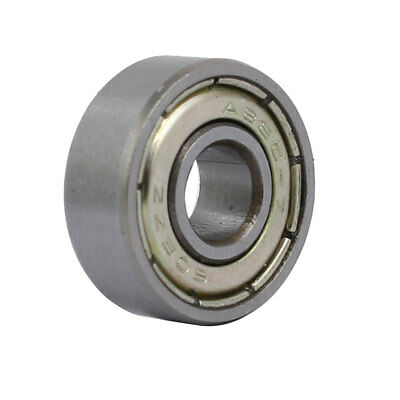 17mmx6mmx6mm Stainless Steel Double Sealed Deep Groove Ball Bearing Silver Tone