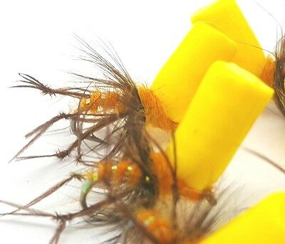 Mackay's Ultimate 3 Sz12 Catching Indicator Orange,Fly Fishing Trout Buzzers