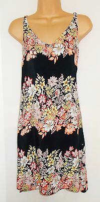New size 8 floral border summer shift dress Holiday Beach SALE