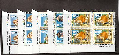 Great Britain:1994:Picture Postcards,Set In Cylinder Blocks of 4.MNH.