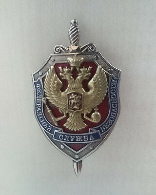 Russian FSB State Security Service badge. Russia