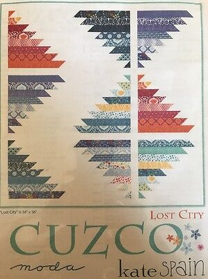 QUILTERS!! stunning Pattern: CUZCO: Lost City By Kate Spain