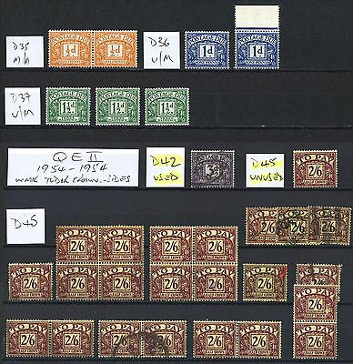 Lot:21994  GB Postage Due's & TO PAY collection with some duplication
