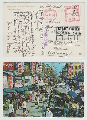 Singapore Old Postcard Malaya To Germany 1964 !!