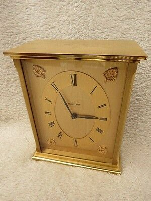Heavy Vintage Acctim Brass Clock With French Quartz Movement