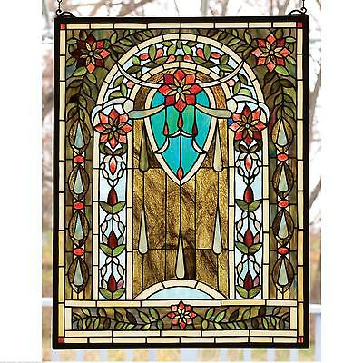 "Meyda Tiffany 20""W X 26""H Hampshire Stained Glass Window 14420"