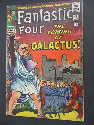 Fantastic Four 48  1st Silver Sufer + Galactus  US Marvel 1965  g-vg 3.5