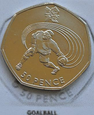 GOALBALL  50p BUNC 2012 Sports 50p London Olympics. ONE unpacketed 50p coin
