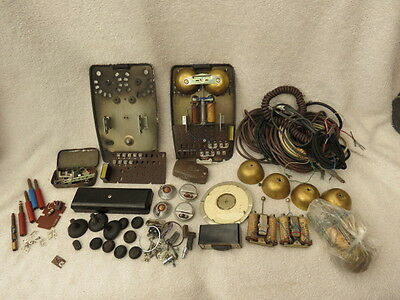 Collection Of Vintage Gpo And Bt Telephone Parts