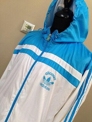 Men's Vtg Adidas Originals Allcourt Hoodie Tracksuit Top Jacket Retro L