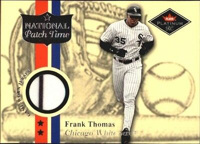 2001 Fleer Platinum National Patch Time #59 Frank Thomas S2
