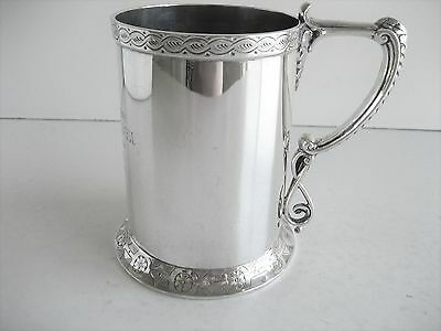 Victorian Solid Silver 277gms Tankard Given to Master of Foxhounds London 1872