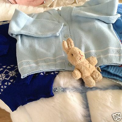AUTHENTIC VINTAGE 1970s UNUSED BABY BUNDLE JUMPERS AND CARDIGAN 18/24 M