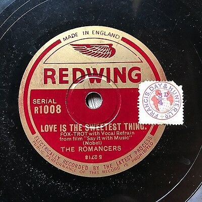 TOMMY KINSMAN/ NAT STAR ORCHESTRAS ON SUPER RARE 1930s 'REDWING' 78!