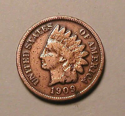 1909 Indian Head Cent,nice Tougher Date!!!(R)