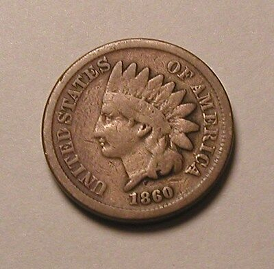 1860 Indian Head Cent,nice Tougher Date!!!(R)