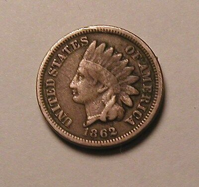 1862 Indian Head Cent,partial Liberty,nice Tougher Date!!!(R)