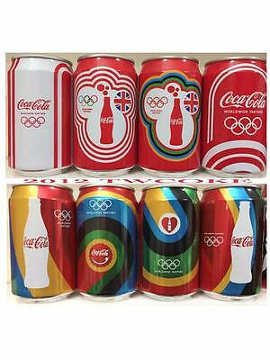 """2012 UK olympic Set Can coca Coke cola Taiwan """"complete of 8"""""""