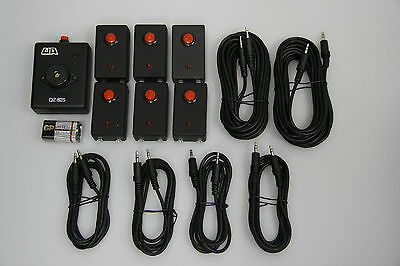 6 players : QZ-825 Lockout Buzzer System for Quiz Bowl