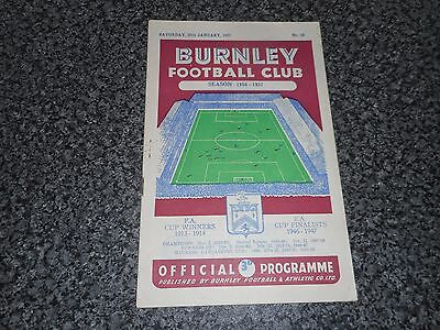 BURNLEY  v  NEW BRIGHTON  1956/7  F A CUP 4th ROUND ~ JANUARY 26th   *SCORE 9-0*