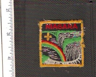 a Vintage used Scouts Canada shoulder patch from the Niagara District.