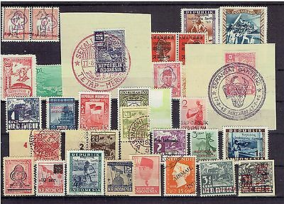 Indonesia first  stamps incl some japanese occ.