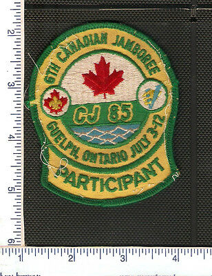 a Vintage Scouts Canada C.J. Guelph patch from 1985.