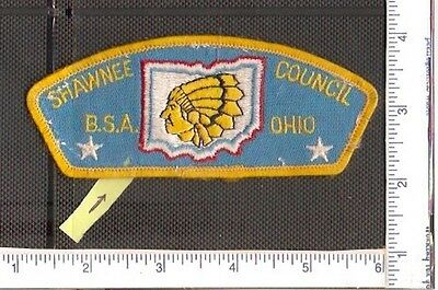 a Vintage used Boy Scouts of America,Shawnee Council Ohio patch.